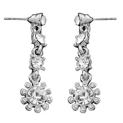Sunburst Crystal Dangly Earrings