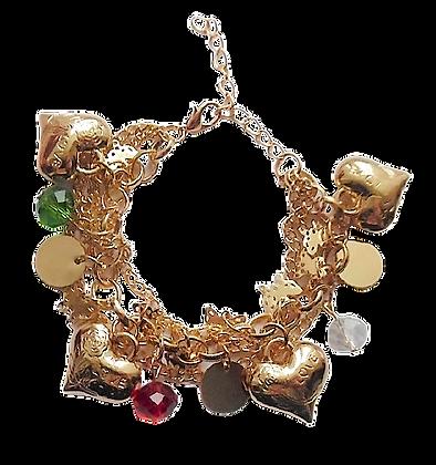 Gold Silver Charm Bracelet