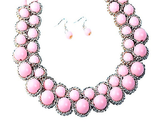 Coral Pink Jewellery Set
