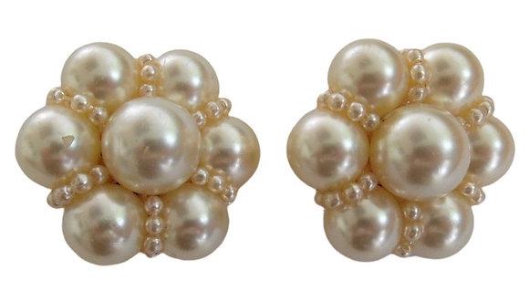 Vintage Pearl Earrings Large