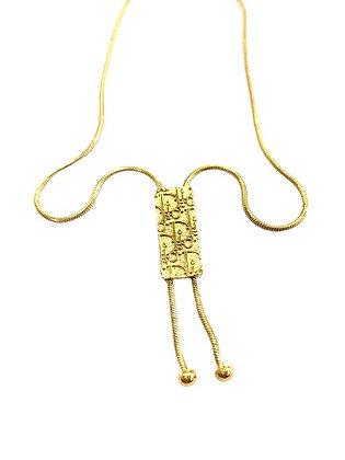 Vintage Dior Logo Necklace