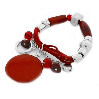 Chunky Red Charm Bracelet