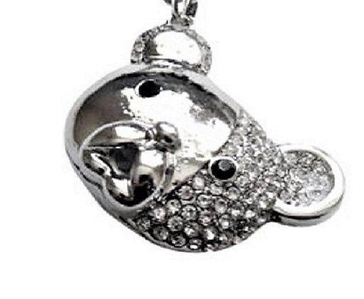 Long Chunky Teddy Bear Necklace