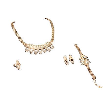 Paste Necklace Bracelet Ring Earrings