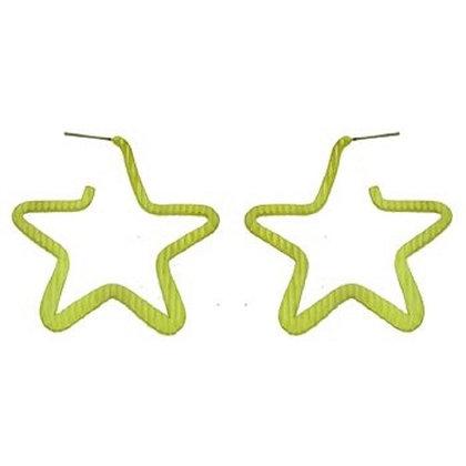Large Gold Star Earrings