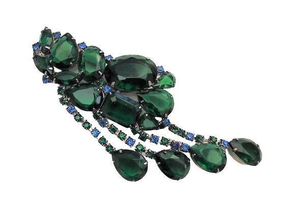 Large Emerald Green Brooch
