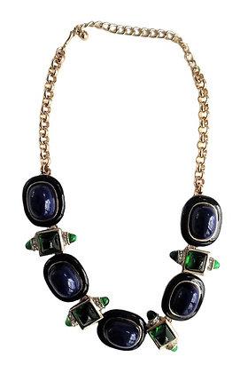 Vintage Kenneth Lane Blue Green Necklace