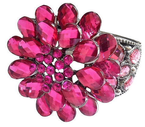 Chunky Wide Pink Red Bangle