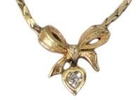 Vintage Signed Dior Gold Plated Necklace