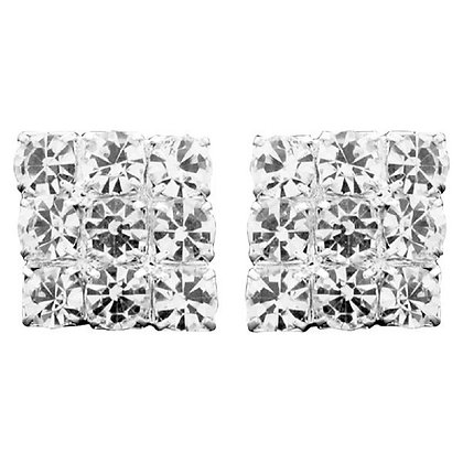 Large Square Crystal Studs