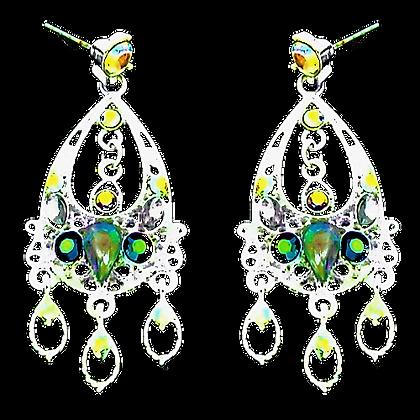 Aurora Borealis Dangly Earrings