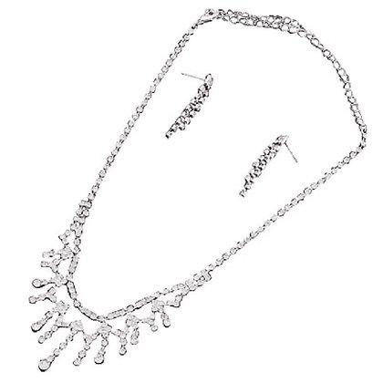 Crystal Jewellery Set Necklace Earrings