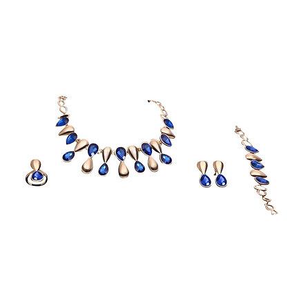 Blue Purple Jewellery Set