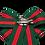 Thumbnail: Green Red Stripe Rectangular Brooch Scarf Clip