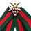 Thumbnail: Green Red Stripe Bee Brooch Scarf Tie Clip