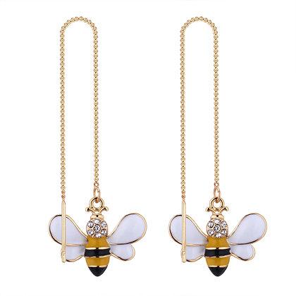 Bee Threader Earrings