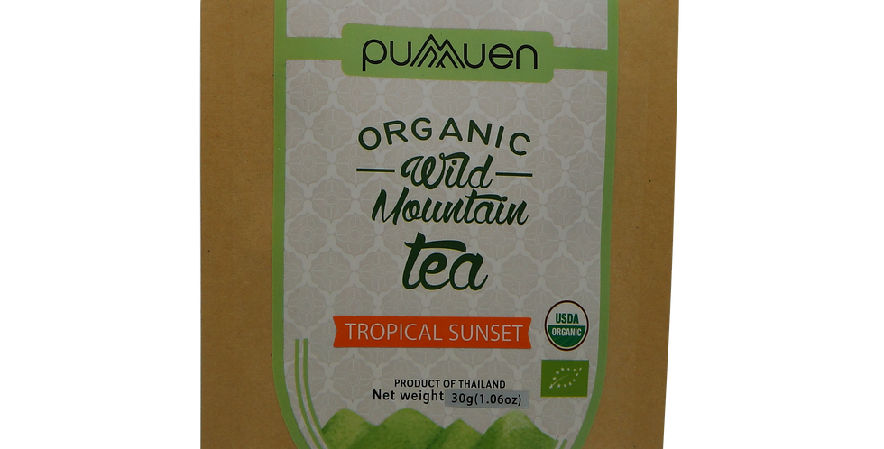 Pumuen organic wild mountain tea - tropical sunset 30g