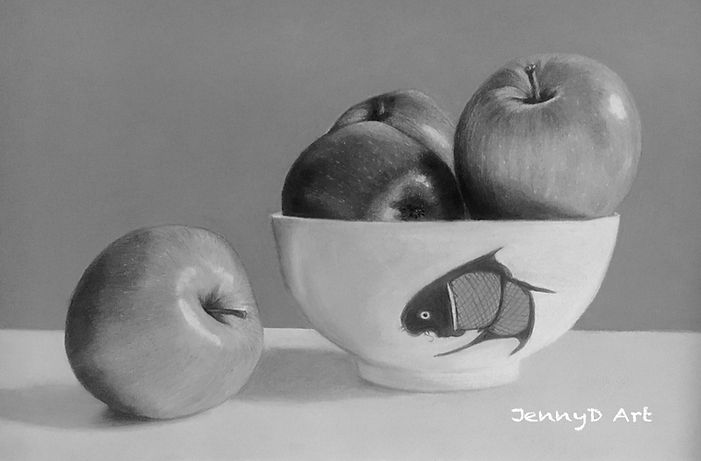 An Apple a Day - Charcoal