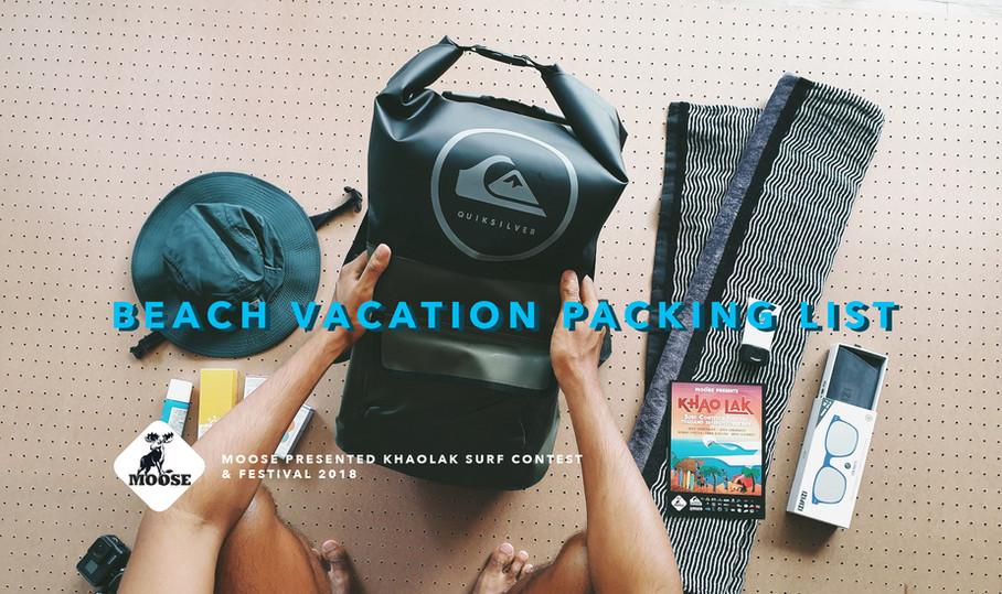 CHECK LIST : PACK UR BAG TO SURF FESTIVAL
