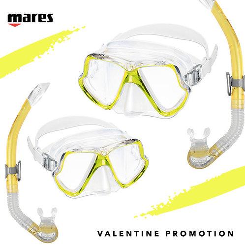 Valentine Wahoo Snorkeling Set X 2 ชุด ราคาพิเศษ สี Yellow