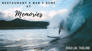 surf in Khao Lak, Thailand