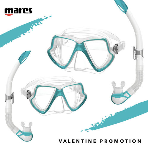 Valentine Wahoo Snorkeling Set X 2 ชุด ราคาพิเศษ สี AQUA