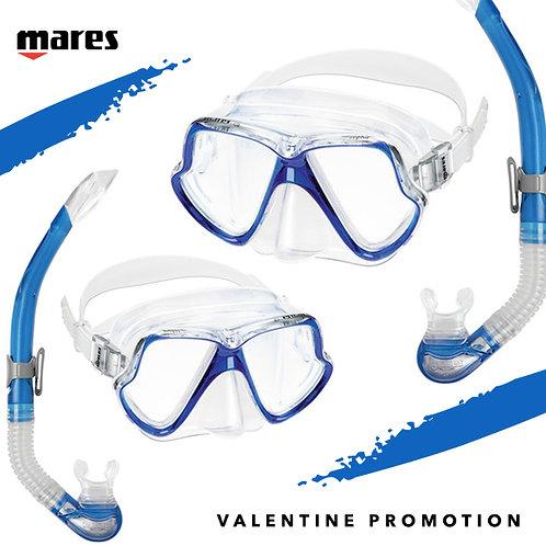 Valentine Wahoo Snorkeling Set X 2 ชุด ราคาพิเศษ สี Blue Sky