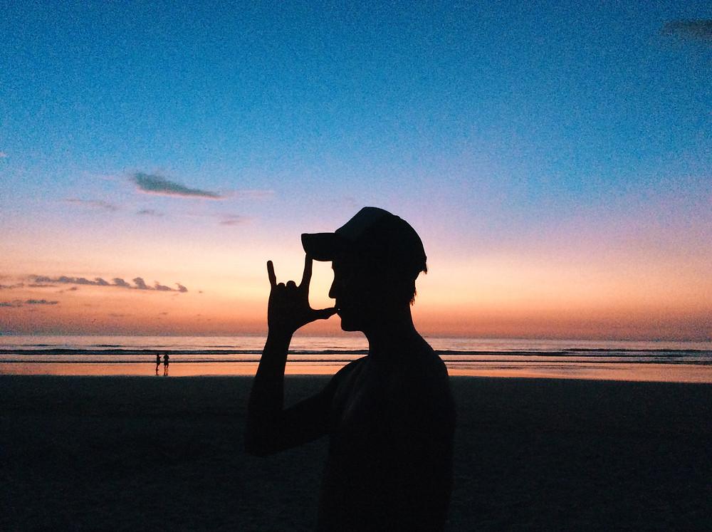 Sunset on the beach in Khao Lak
