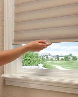 Cordlesss Hunter Douglas Silhouettes: Lifetime Blinds