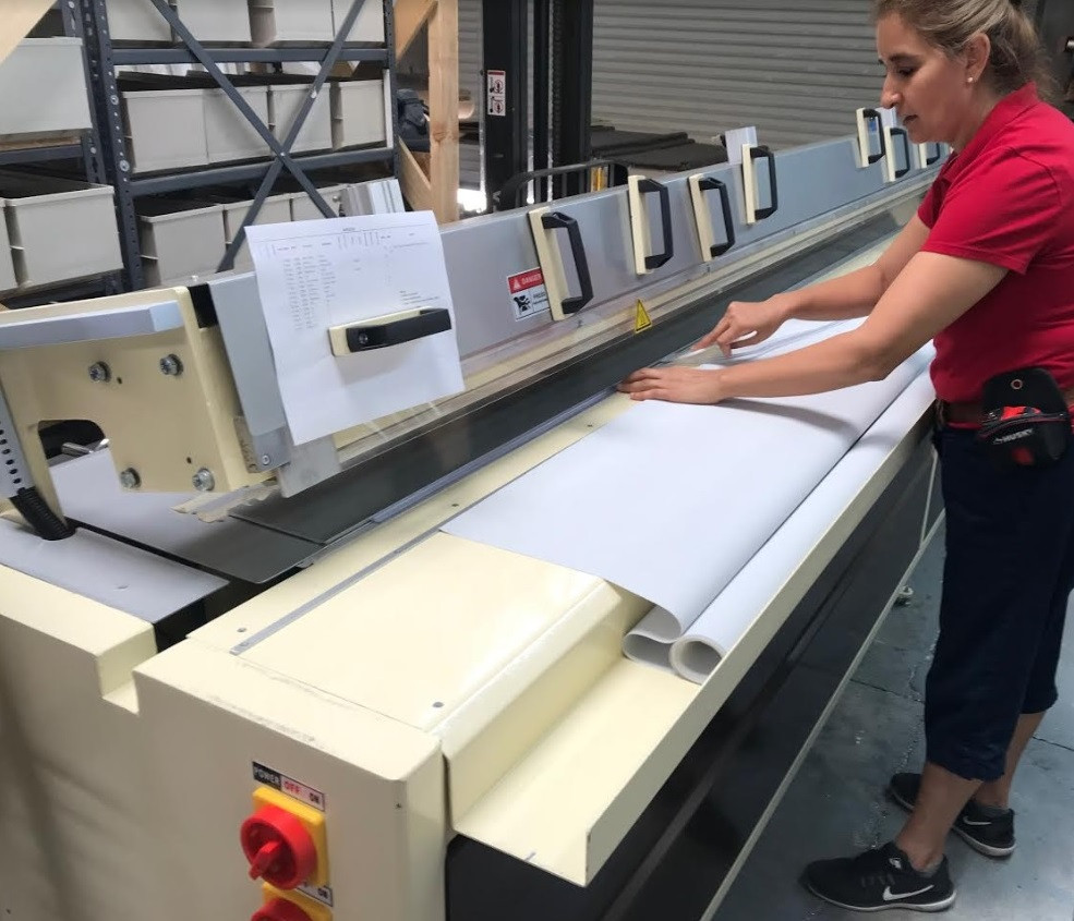 How roller shades are made in local factory.
