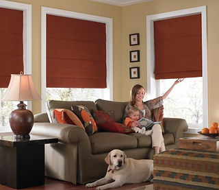 Cordless Roman Shades: Lifetime Blinds