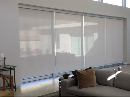 Alexa: Voice Activated Roller Shades, Hard Wired or Wire-Free Radio Frequency - Somfy myLink App
