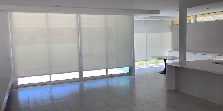Seven Lakes Rollease Motor Roller Shades