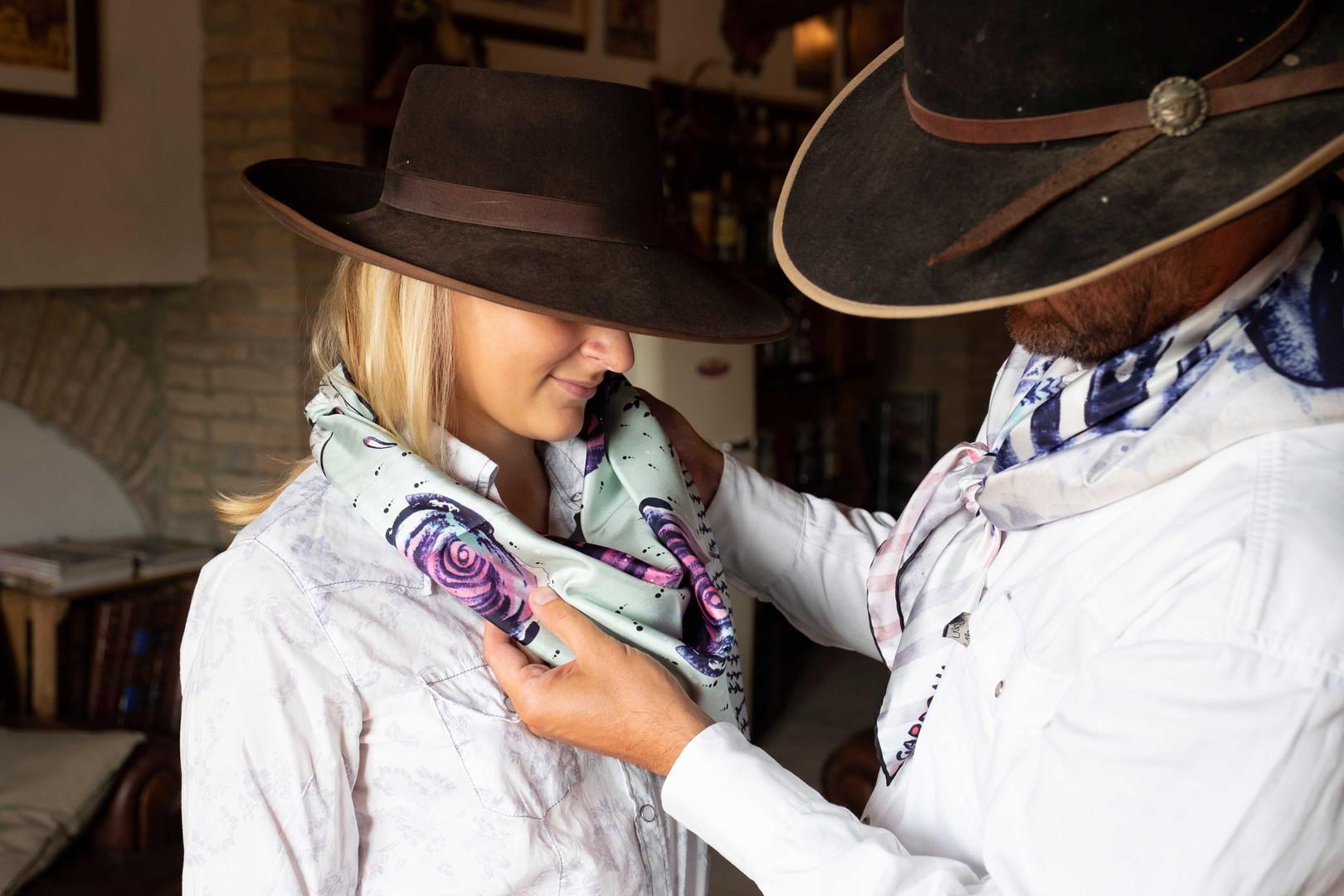 GARDONI foulard seta