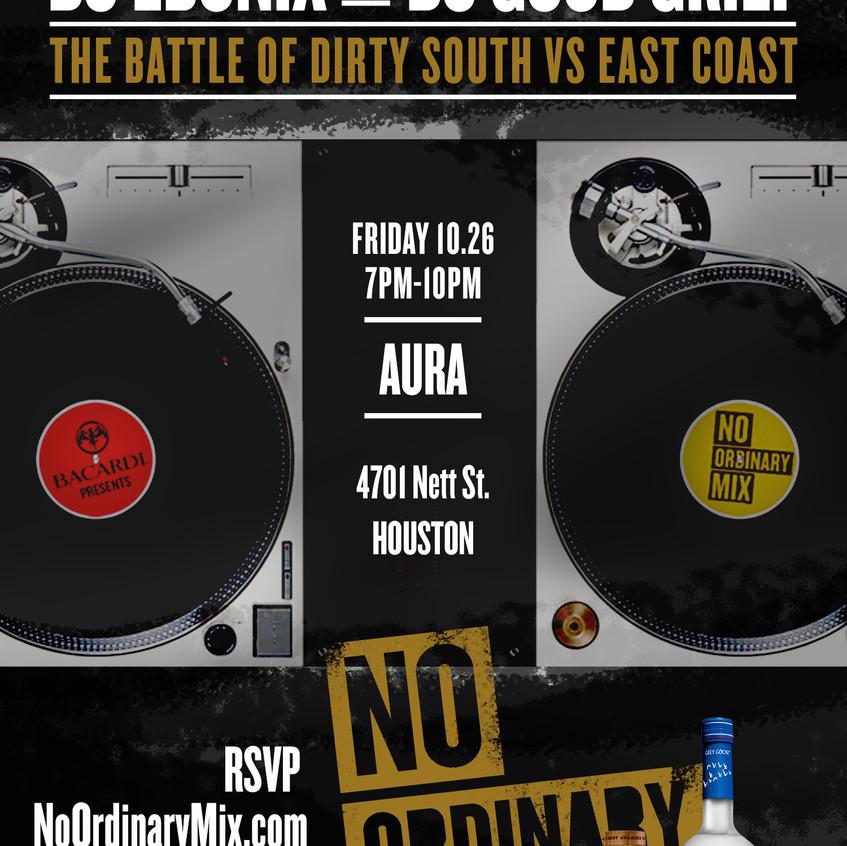 Bacardi DJ Battle at Aura Flyer