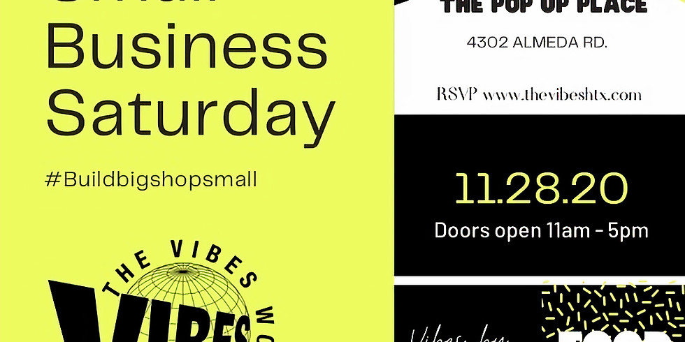 The VIBES WORLD MARKET | SMALL BUSINESS SATURDAY | NOV 28