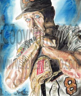 """My Hero"" Cal Ripken Jr Portrait"