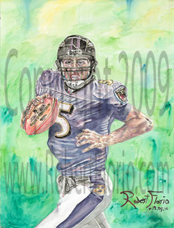 Joe Flacco Portrait