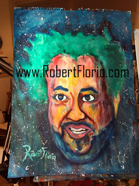 Giorgio Tsoukalos ancient aliens TV show painting. original