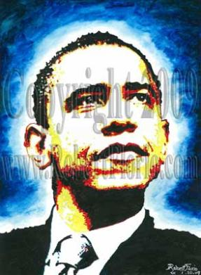 """A Vision of Hope"" Portrait of Obama"