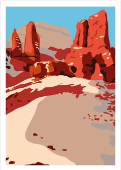 Landscape - Vektor Poster