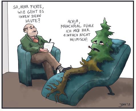 Cartoon - Heimische Fichte