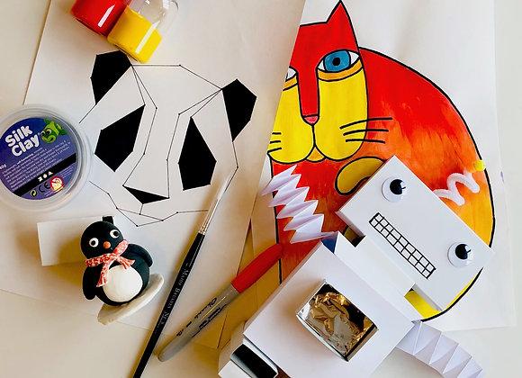 Fab 4! art project kit box