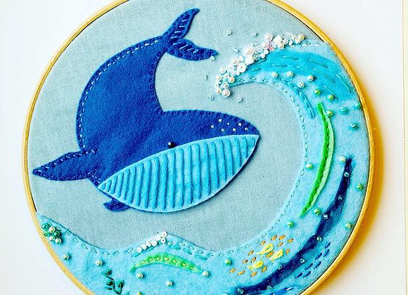 Ocean whale hoop kit