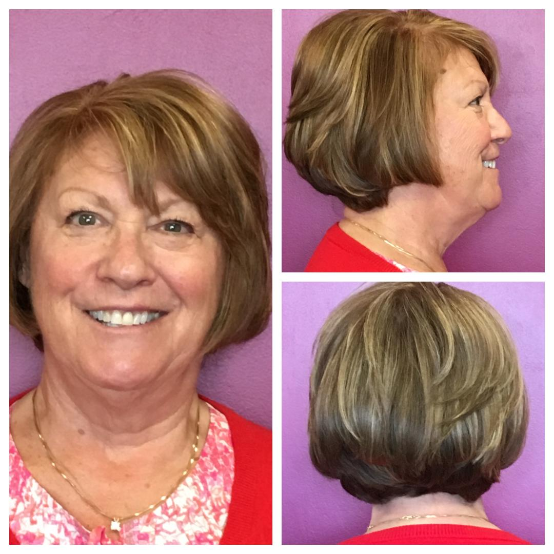 short bob cut by Deanna