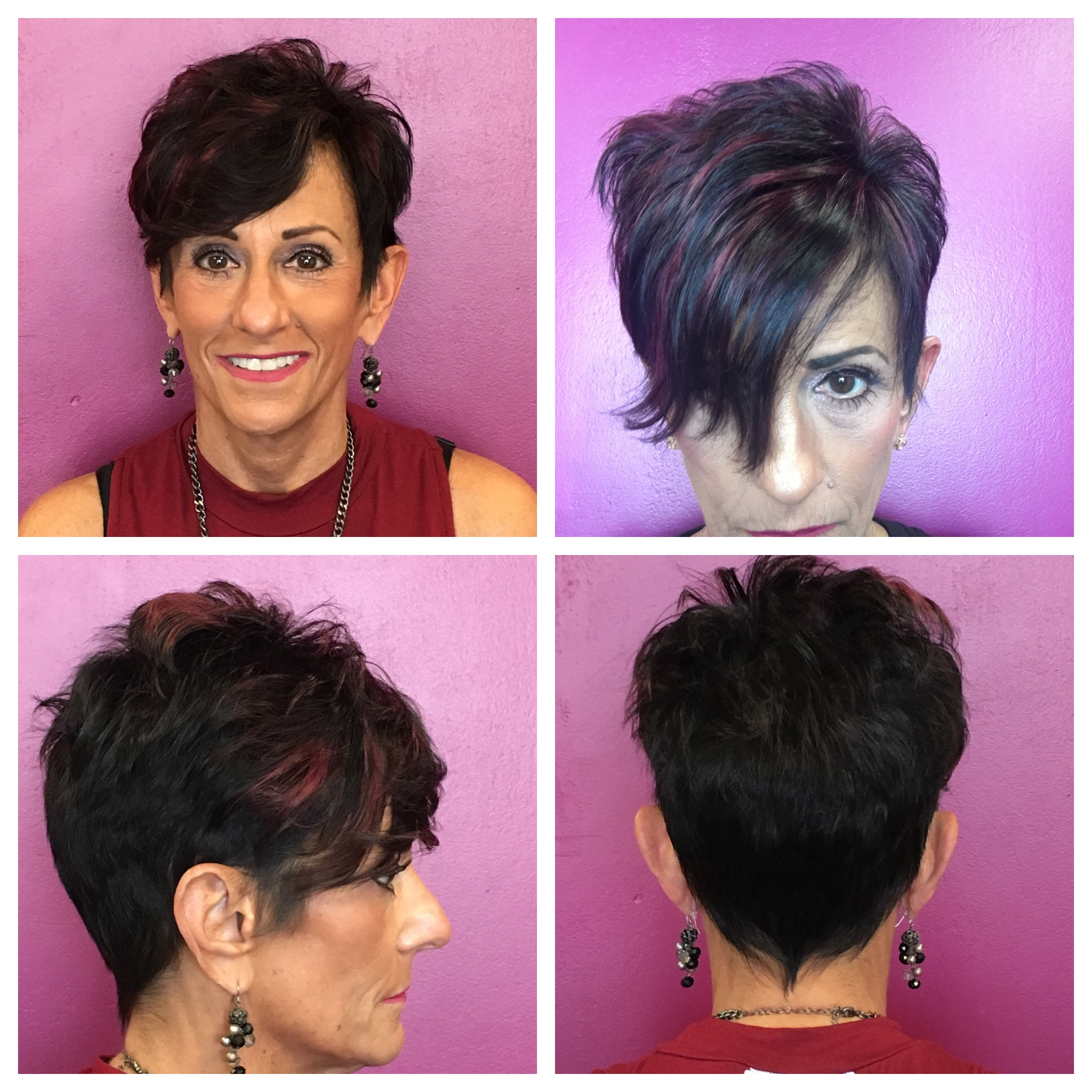 Fashion Color :Purple highlight by Deanna