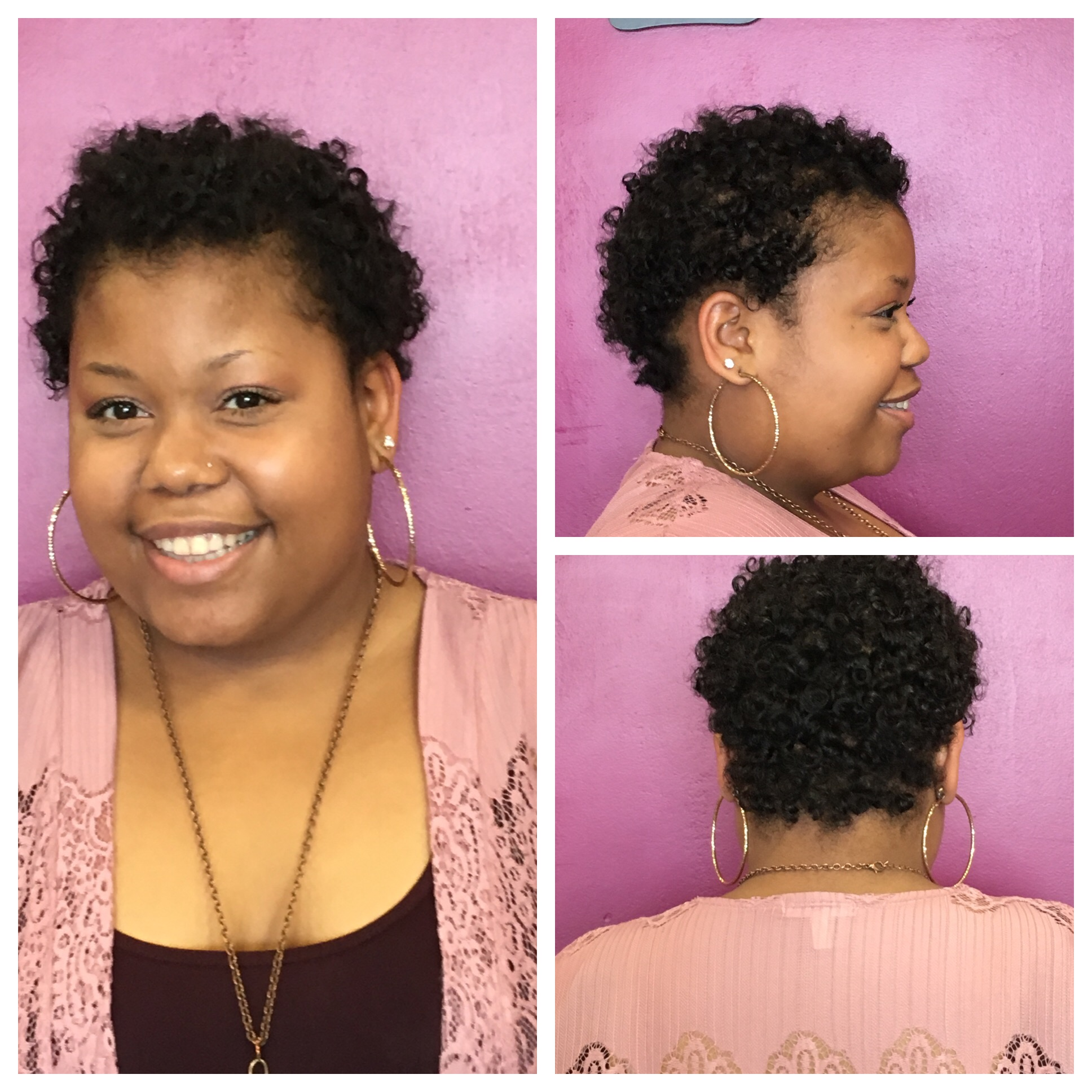 Natural curls done by Deanna