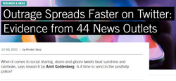 Outrage Spreads Faster on Twitter: Evidence from 44 News Outlets