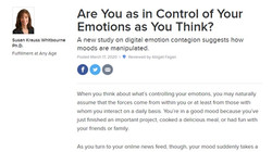 Are You as in Control of Your Emotions as You Think?