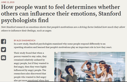 How people want to feel determines whether others can influence their emotions, Stanford psychologis